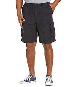 True Nation™ Men's Big & Tall Plaid Cargo Shorts