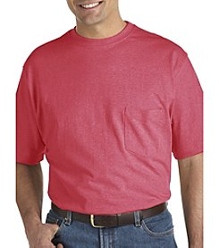 Harbor Bay® Men's Big & Tall Wicking Pocket Tee