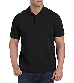 28 Degrees Men's Big & Tall Solid Liquid Cotton Polo
