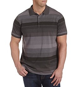 28 Degrees Men's Big & Tall Bio Ombre Stripe Polo Shirt