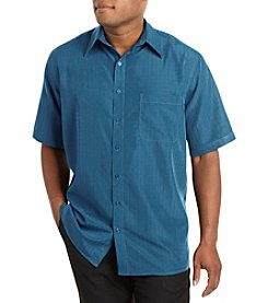 Harbor Bay® Men's Big & Tall Short Sleeve Microfiber Solid Sport Shirt