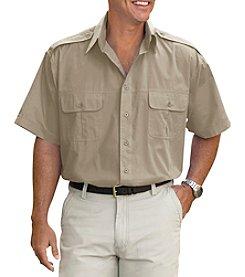 Harbor Bay® Men's Big & Tall Short Sleeve Pilot Sport Shirt