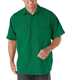 Harbor Bay® Men's Big & Tall Short Sleeve Co Pilot Sport Shirt