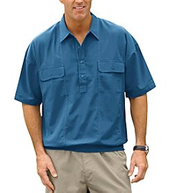 Harbor Bay® Men's Big & Tall Short Sleeve Banded Bottom Polo