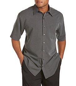 Harbor Bay® Men's Big & Tall Short Sleeve Microfiber Multi-Stripe Sport Shirt