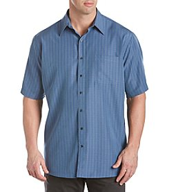 Harbor Bay® Men's Big & Tall Short Sleeve Microfiber Textured Sport Shirt