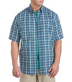 Harbor Bay® Men's Big & Tall Short Sleeve  Plaid Sport Shirt