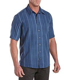 Synrgy Men's Big & Tall Short Sleeve Microfiber Plaid Buttondown Shirt