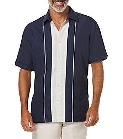 Cubavera® Men's Big & Tall Short Sleeve White Panel Buttondown Shirt