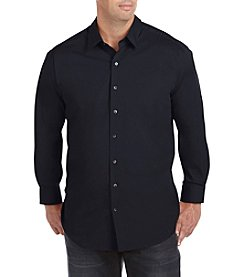 28 Degrees Men's Big & Tall Solid Stretch Sport Shirt
