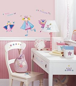 RoomMates Wall Decals Fairy Princess Peel & Stick Wall Decals