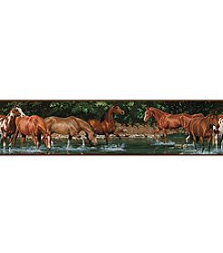 RoomMates Wall Decals Wild Horses Peel & Stick Border
