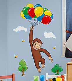 RoomMates Wall Decals Curious George Peel & Stick Giant Wall Decal