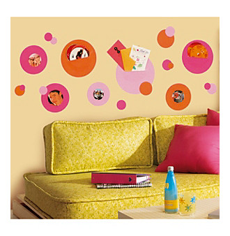 RoomMates Pink Wallpockets P & S Wall Decals