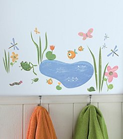 RoomMates Wall Decals Hoppy Pond  Peel & Stick Wall Decals