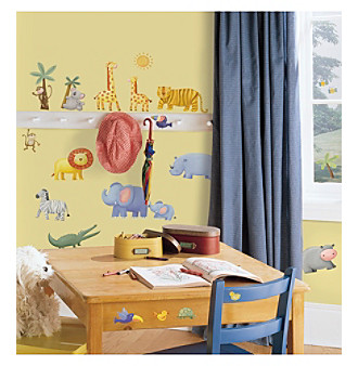 RoomMates Jungle Adventure P & S Wall Decals
