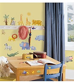 RoomMates Wall Decals Jungle Adventure Peel & Stick Wall Decals