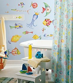 RoomMates Wall Decals Sea Creatures Peel & Stick Wall Decals