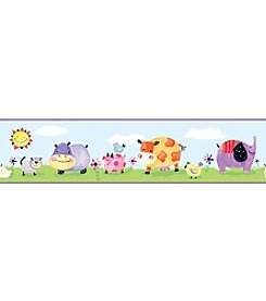 RoomMates Polka Dot Piggy P&S Border Decal