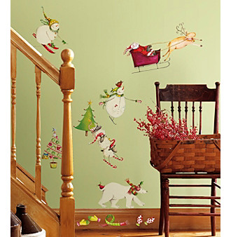 RoomMates Wall Decals Winter Holiday Peel & Stick Wall Decals
