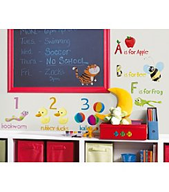 RoomMates Wall Decals Education Station Peel & Stick Wall Decals