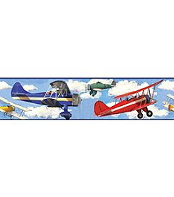 RoomMates Wall Decals Vintage Planes Peel & Stick Border