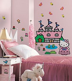 RoomMates Wall Decals Hello Kitty Princess Castle Giant Wall Decal