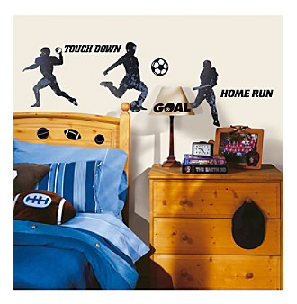 RoomMates Sports Silhouettes P & S Wall Decals