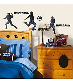 RoomMates Wall Decals Sports Silhouettes Peel & Stick Wall Decals