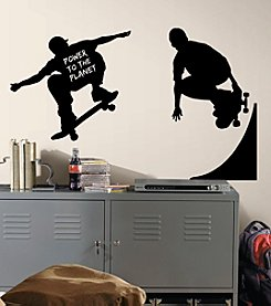RoomMates Wall Decals Chalkboard Skaters Chalk Peel & Stick Wall Decals