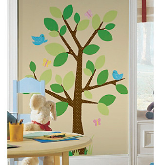 RoomMates Dotted Tree P & S Wall Decals