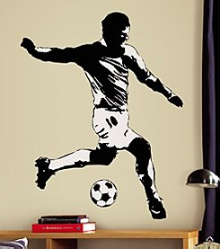 RoomMates Wall Decals Soccer Player Peel & Stick Giant Wall Decals