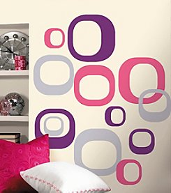 RoomMates Wall Decals Modern Ovals Peel & Stick Wall Decals