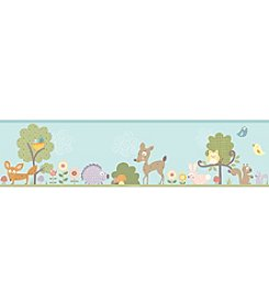 RoomMates Wall Decals Woodland Animals Peel & Stick Border