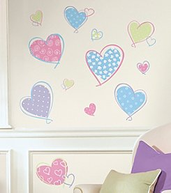 RoomMates Wall Decals Hearts Peel & Stick Wall Decals