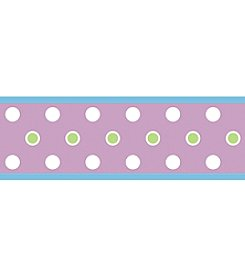 RoomMates Wall Decals Purple Dot Peel & Stick Border