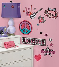 RoomMates Girls Rock-n-Roll P&S Wall Decals