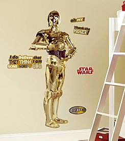 RoomMates Wall Decals Star Wars™ Classic C3PO Peel & Stick Giant Wall Decals