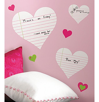 RoomMates Hearts Dry Erase P & S Wall Decals