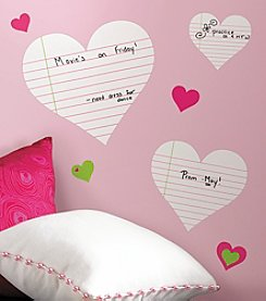 RoomMates Hearts Dry Erase P&S Wall Decals