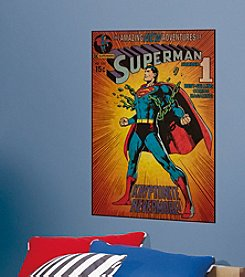 RoomMates DC™ Superman Kryptonite Comic Book Cover P&S Wall Decal