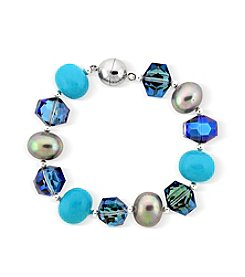Designs by FMC Crystal & Faux Pearl Magnetic Bracelet