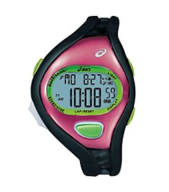 Asics® Entry Running Watch in Black/Pink