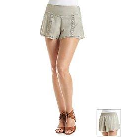 Hippie Laundry Crochet Inset Shorts