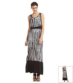Kensie® Tie Dye Vertebrae Stripe Maxi Dress