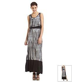 Kensie® Tie Dye Vertebrae Stripe Maxi Dress