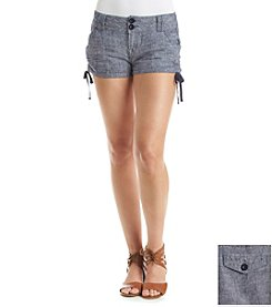 Wallflower® Linen Ruched Shorts