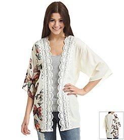 Sequin Hearts® Butterfly Border Kimono