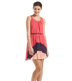 A. Byer Colorblock Tank Dress