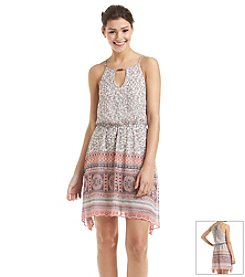 Trixxi® Chiffon Paisley Printed Dress
